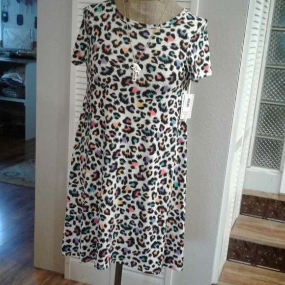 29fc65663f1b LuLaRoe Dresses | Rainbow Leopard Print Unicorn Carley | Poshmark